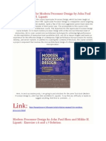 updated Solution Manual for Modern Processor Design by John Paul Shen and Mikko H. Lipasti