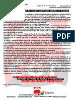 Novena reunión del periodo de consultas del Despido Colectivo en Tragsatec
