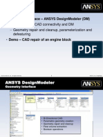 Ask-The-experts Using ANSYS DesignModeler to Create FE Efficient Mechanical Solid Models From CAD Geometry