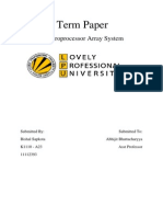 Microprocessor Array System