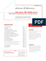 Italia 3 Trim 2013 - Pil Debito & Co