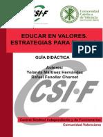 V14.2 - Educar en Valores. Estrategias Para El Aula