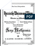Bortkiewicz Russian Melodies and Dances (4 Hands)