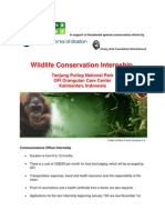 In Support of Threatened Species Conservation Efforts By