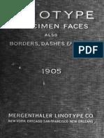 Mergenthaler Linotype Specimens 1905