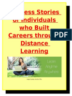 Success Stories of Individuals who Built Careers through Distance Learning