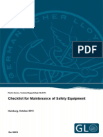 Checklist for LSA Maintenance