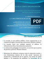 UNIDAD II LA ESCUELA COMO ORGANIZACIÓN. sociopedagogia