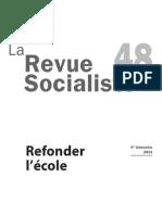 La Revue socialiste n°48 Refonder l'École