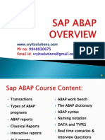 SAP ABAP ONLINE TRAINING | SRYIT SOLUTIONS