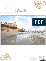 Wedding Menu Tamarit 2014
