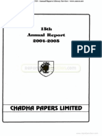 Chadha Papers Limited 2005