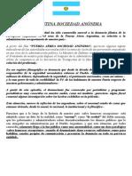 Argentina Sociedad Anónima