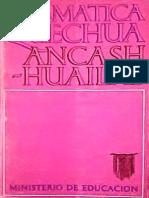 GRAMÁTICA QUECHUA ÁNCASH