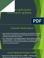 Pagsusuri Ng Economic Performance Ng Bansa