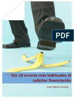 Los 10 Errores Mas Habituales Al Solicitar Financiacion eBook