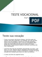 Aula 09 Novembro Exmplo Teste Vocacional