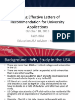 Letters of Recommendation RZM 2011