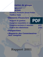 Cofidur Rapport Annuel 2001