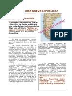 PATAGONIA - UNA NUEVA REPÚBLICA - artículo revista
