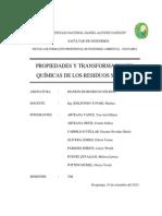 Propiedades y Transformaciones Quimicas Residuos Solidos