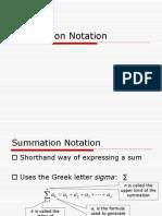 Sumation Summary