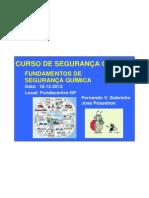 FUNDAMENTOS DE SEGURANÇA QUÍMICA 2012