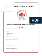 Informe de Micros Contador Descendente Del 9 Al 0