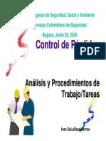 Analisis Tareas Criticas y Procedimientos de Trabajo