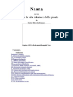 Nanna Oppure Circa La Vita Interiore Delle Piante.-italiano-Gustav Theodor Fechner.