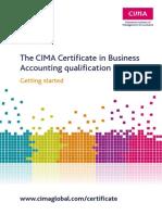 Certificate Pack CIMA