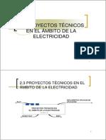 2-3 Proyectos Tecnicos en El Ambito de La Electricidad