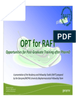 OPT for RAFT - Interviewing - New England Pharmacy Convention 2013