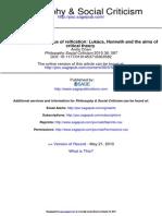 Philosophy Social Criticism 2010