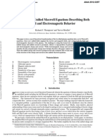 A Novel Set of Unified Maxwell Equations Describing Both Fluid and Electromagnetic Behavior
