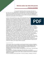 Muñiz - Noticia sobre las islas del Paraná
