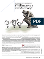What will improve a students memory?