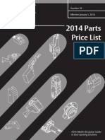 Corbin Russwin 2014 Parts Price Book