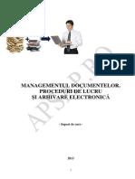 Managementul Documentelor- Proceduri de Lucru-Arhivare Electronica