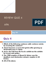 Eng 101 Quiz4Review APA