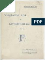 25 Ans de civilisation Au Congo Par Alexandre Halot