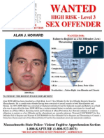 Alan Howard Sex Offender Wanted Poster