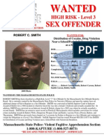 Robert Smith Sex Offender Wanted Poster