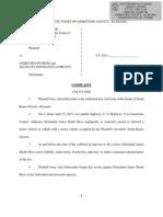 Complaint in lawsuit against James Moss