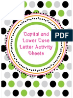Kindergarten Capital and Lowercase Letter Activity Sheets