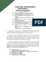 El Placer Del Matrimonio Cristiano II - Para Los Esposos