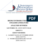 Literature - Analysis of Poem