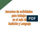 Recursos de actividades para trabajar en el aula de Audición y Lenguaje