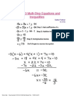 chapter 3 multi step equations