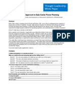 Vector Approach to Data Center Power Planning